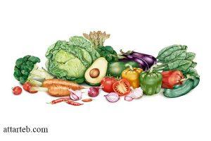 مصرف سبزیجات در رژیم کاهش وزن سریع