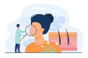 روش تشخیص پوست خشک