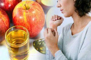 درمان اگزما صورت با سرکه سیب